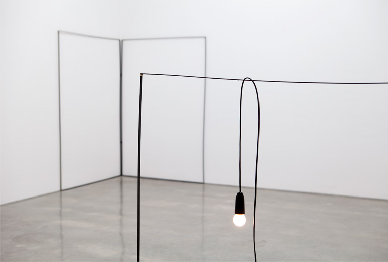 "Christopher Hanrahan: ""Oe"" 2014, installation view. Image: www.sarahcottiergallery.com"