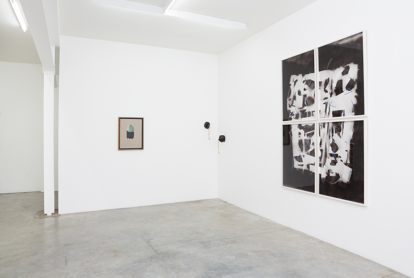 World Material installation view featuring Eloïse Kirk (L) & Connie Anthes (R). Image courtesy the artist and Darren Knight Gallery, Sydney. Photography: Simon Hewson